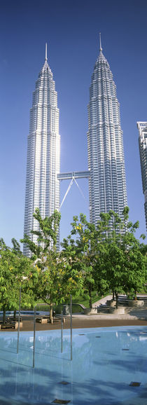 Malaysia, Kuala Lumpur, View of Petronas Twin Towers by Panoramic Images