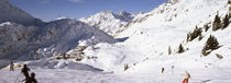 Tourists skiing in a ski resort, St. Christoph, Austria by Panoramic Images