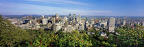 High angle view of a cityscape, Parc Mont Royal, Montreal, Quebec, Canada by Panoramic Images