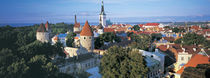 High angle view of a town, Tallinn, Estonia von Panoramic Images