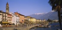Buildings at the waterfront, Lake Maggiore, Ascona, Switzerland by Panoramic Images