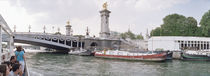 Bridge across a river, Pont Alexandre III, Seine River, Paris, France by Panoramic Images