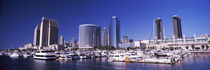 Boats at a harbor, San Diego, California, USA 2010 by Panoramic Images
