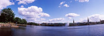 Clouds over a lake, Binnenalster Lake, Hamburg, Germany by Panoramic Images