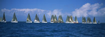 Farr 40's race during Key West Race Week, Key West Florida,2000 by Panoramic Images