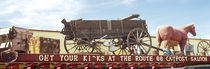 Low angle view of a horse cart statue, Route 66, Arizona, USA by Panoramic Images