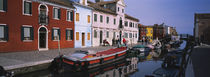 Houses at the waterfront, Burano, Venetian Lagoon, Venice, Italy von Panoramic Images