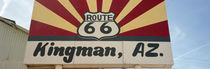 Low angle view of a road sign, Route 66, Kingman, Mohave County, Arizona, USA by Panoramic Images