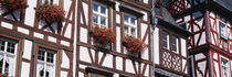 Low Angle View Of Decorated Buildings, Bernkastel-Kues, Germany by Panoramic Images
