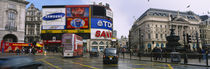 Commercial signs on buildings, Piccadilly Circus, London, England by Panoramic Images