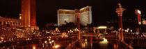 Hotel lit up at night, The Mirage, The Strip, Las Vegas, Nevada, USA by Panoramic Images