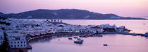 Buildings in a city, Mykonos, Cyclades Islands, Greece by Panoramic Images