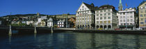 Buildings at the waterfront, Limmat Quai, Zurich, Switzerland by Panoramic Images