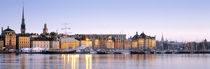 Buildings on the waterfront, Old Town, Stockholm, Sweden by Panoramic Images
