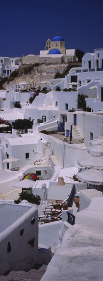 High angle view of houses, Oia, Santorini, Greece by Panoramic Images