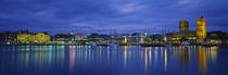 Buildings at the waterfront, City Hall, Oslo, Norway von Panoramic Images