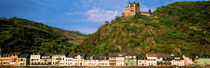 Castle on the top of a hill, Lorelei, Rhine River, Germany von Panoramic Images