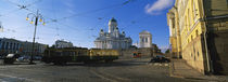 Tram Moving On A Road, Senate Square, Helsinki, Finland by Panoramic Images