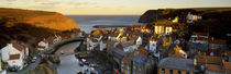 High Angle View Of A Village, Staithes, North Yorkshire, England, United Kingdom by Panoramic Images