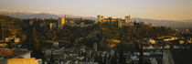 High angle view of a city, Alhambra, Granada, Spain von Panoramic Images