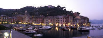 Boats at a harbor, Portofino, Genoa, Liguria, Italy von Panoramic Images