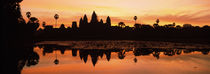 Silhouette of a temple, Angkor Wat, Angkor, Cambodia by Panoramic Images