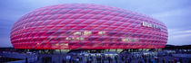 Soccer Stadium Lit Up At Dusk, Allianz Arena, Munich, Germany by Panoramic Images