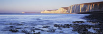 Chalk cliffs at seaside, Seven sisters, Birling Gap, East Sussex, England by Panoramic Images