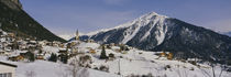 Town on a mountainside, Schmitten, Switzerland by Panoramic Images