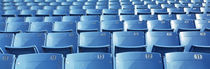 Empty blue seats in a stadium, Soldier Field, Chicago, Illinois, USA by Panoramic Images