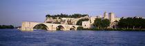 Avignon, Palais des Papes, Pont St-Benezet Bridge, Fort near the sea by Panoramic Images