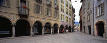 Buildings along a street, Town Center, Bellinzona, Ticino, Switzerland von Panoramic Images