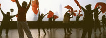 Morning Exercise, The Bund, Shanghai, China by Panoramic Images