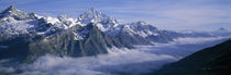 Aerial View Of Clouds Over Mountains, Swiss Alps, Switzerland by Panoramic Images
