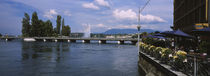 Bridge across a river, Rhone River, Geneva, Switzerland von Panoramic Images