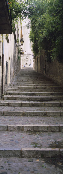 Narrow staircase to a street, Girona, Costa Brava, Catalonia, Spain von Panoramic Images