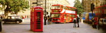 Phone Box, Trafalgar Square Afternoon, London, England, United Kingdom by Panoramic Images