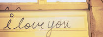 Close-up of I love you written on a wall by Panoramic Images