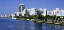 USA, Florida, Miami, Miami Beach, Panoramic view of waterfront and skyline by Panoramic Images
