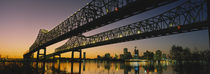 Low angle view of a bridge across a river, New Orleans, Louisiana, USA by Panoramic Images
