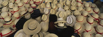 High Angle View Of Hats In A Market Stall, San Francisco El Alto, Guatemala von Panoramic Images