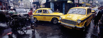Traffic in a street, Calcutta, West Bengal, India by Panoramic Images