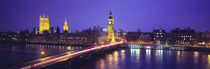 Panorama Print - England, London, Parlament, Big Ben von Panoramic Images