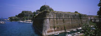Fortress at the waterfront, Old City, Corfu, Greece by Panoramic Images