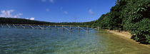 Dock in the sea, Vava'u, Tonga, South Pacific von Panoramic Images