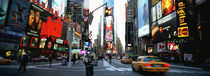 Traffic on a road, Times Square, New York City, New York, USA von Panoramic Images