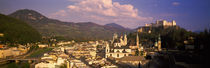 High angle view of a city, Salzburg, Austria von Panoramic Images