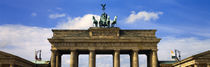 High section view of a memorial gate, Brandenburg Gate, Berlin, Germany by Panoramic Images