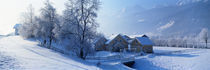 Winter Farm Austria von Panoramic Images
