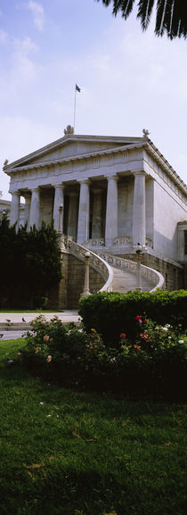 Low angle view of a building, National Library, Athens, Greece by Panoramic Images